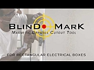 Blind Mark Magnetic Drywall Locator Tool  - Blind Mark 8106