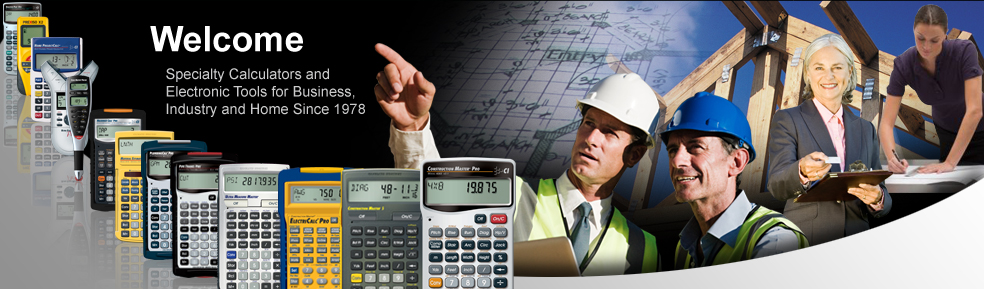 Specialty calculators and electronic tools for business, industry and home since 1978