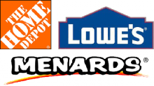 Available at Home Depot, Lowes and Menards