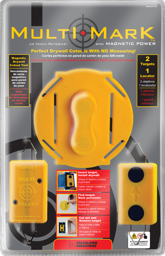 Multi Mark Magnetic Drywall Locator Tool