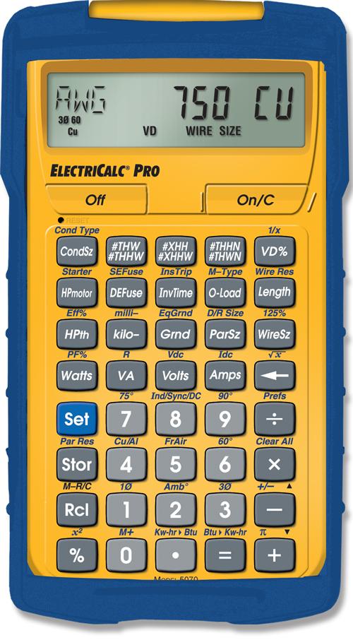 Electricalc pro construction calculators estimating for Home construction estimate calculator