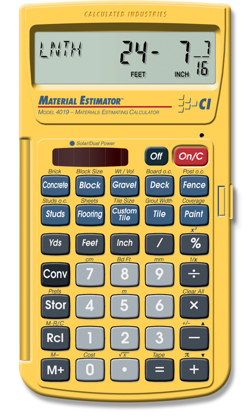 Material estimator construction calculators do it for Construction materials cost estimator